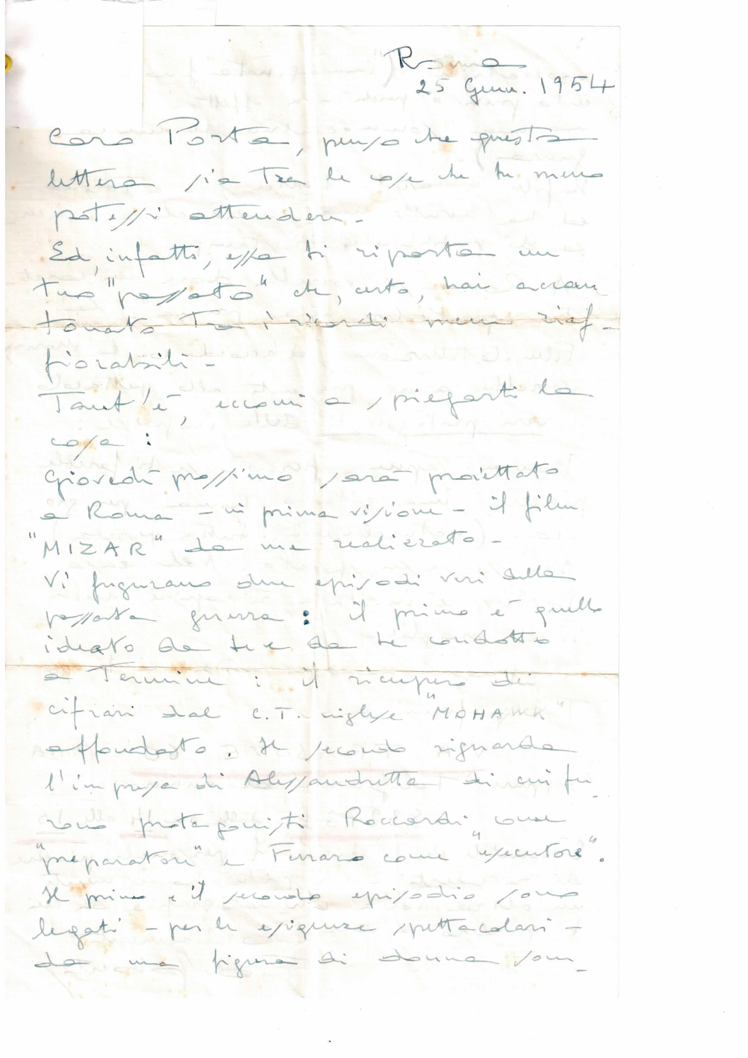 Prima lettera di De Robertis