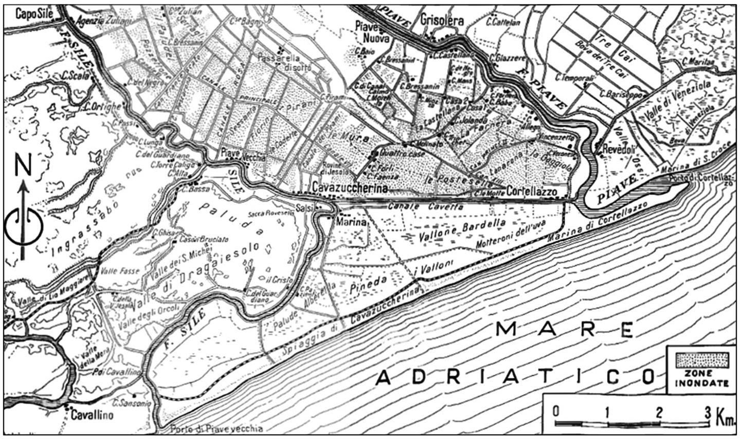 mappa Battaglia del Piave