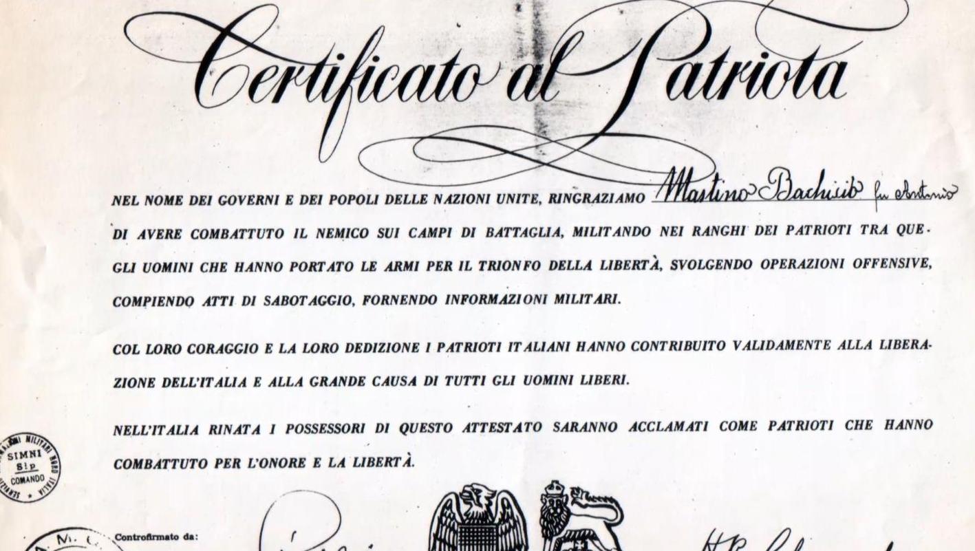 Certificato di Patriota
