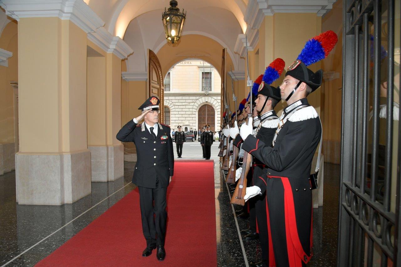 Un momento della cerimonia alla presenza del Generale Giovanni Nistri